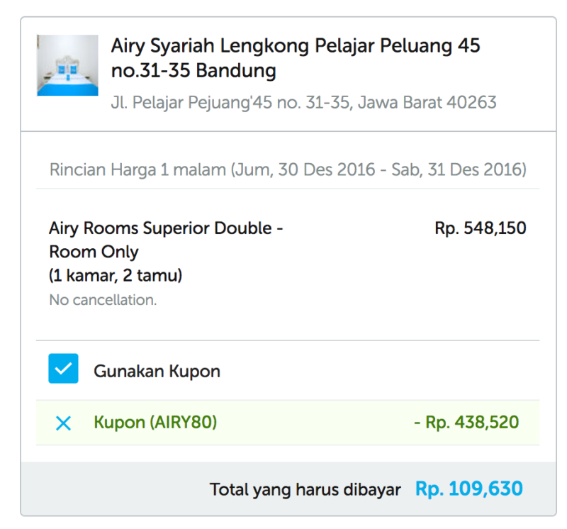 Diskon Airy Rooms Hotel 80% - #TravelMore