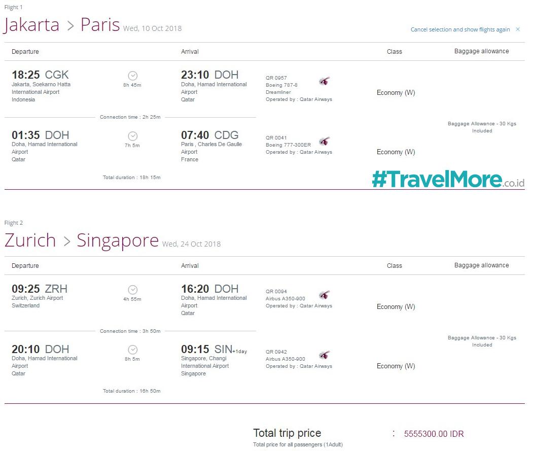 Jakarta-Paris-Zurich-Singapore 5,5 juta
